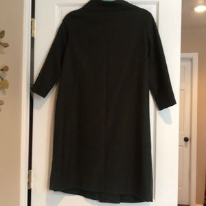 COS Dresses - COS Mock Neck Dark Green Tunic Dress